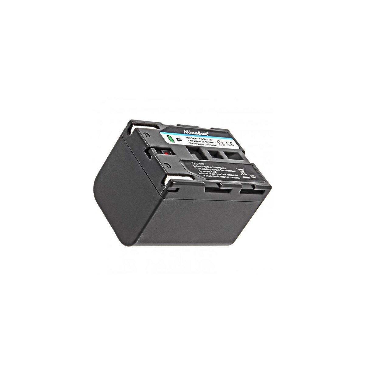 Minadax® Qualitaetsakku mit echten 2400 mAh fuer Medion MD41859 MD9021 MD9021n MD9035 MD9035n MD9069 MD9069n MD9090, wie SB-L220 - Intelligentes Akkusystem mit Chip