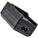 Minadax® Ladegerät 100% kompatibel mit Casio NP-50 inkl. Auto Ladekabel, Ladeschale austauschbar + 1x Akku Ersatz für NP-50