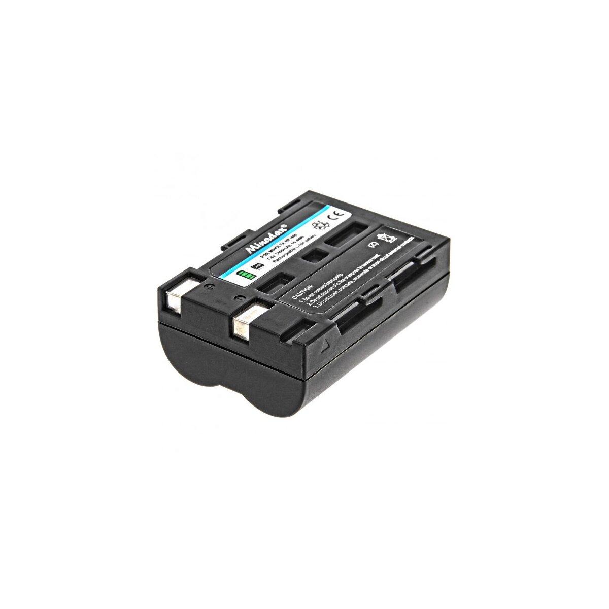 Minadax® Qualitätsakku mit echten 1400 mAh kompatibel mit Pentax K10D, K20D, K100D, K110D, Ersatz für NP-400 - Intelligentes Akkusystem mit Chip