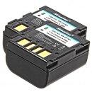 2x Minadax® Qualitaetsakku mit echten 750 mAh fuer JVC GR-DF420 GR-DF420EX GR-DF425 GR-DF425E GR-DF450 GR-DF450U GR-DF470 GR-DF520 GR-DF540 GR-DF540EX GR-DF550 GR-DF565 GR-DF 570 GR-DF590, wie BN-VF707 - Intelligentes Akkusystem mit Chip