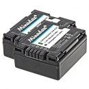 2x Minadax® Qualitaetsakku mit echten 750 mAh fuer Panasonic NV GS10 GS17 GS17EG GS21 GS22 GS27 GS30 GS33 GS35 GS50 GS55K GS60, wie CGA DU07 - Intelligentes Akkusystem mit Chip
