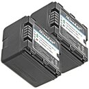 2x Minadax® Qualitaetsakku mit echten 1050 mAh fuer Panasonic HDC HS9 HS20 HS100 HS200 HS250 HS300 HS900 SD1 SD5 SD9 SD20 SD100 SD200 SD800 SD909 SX5 TM20 TM200 TM300 TM900, wie VW VBN130 - Intelligentes Akkusystem mit Chip