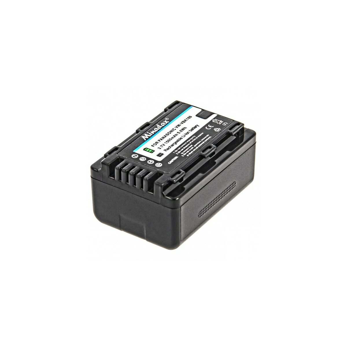 Minadax® Qualitaetsakku mit echten 1500 mAh fuer Panasonic HDC HS60 TM60 SD66 SDR H85 T50 S50, wie VW VBK180 - Intelligentes Akkusystem mit Chip
