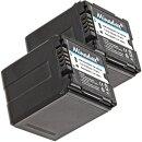 2x Minadax® Qualitaetsakku mit echten 2100 mAh fuer Panasonic HDC DX1 H40 GS90 SD20, wie VW VBG260 - Intelligentes Akkusystem mit Chip