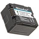 2x Minadax® Qualitaetsakku mit echten 950 mAh fuer Panasonic HDC HS9 SX5 DX1 TM350 SD100 SD200 SD300 SD600 SD707 HS20 HS100 HS200 HS300 HS700 TM700 SDR H20 H40 H50 H60 H80 H90 H250 H280, wie VW VBG130 - Intelligentes Akkusystem mit Chip