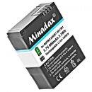 2x Minadax Qualitätsakku mit echten 900mAh kompatibel für GoPro Hero 3 / Hero 3+ Ersatz für AHDBT-302 / AHDBT-301 / AHDBT-201 - Intelligentes Akkusystem mit Chip