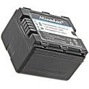 Minadax® Ladegeraet 100% kompatibel fuer Panasonic VW-VBN130 inkl. Auto Ladekabel, Ladeschale austauschbar + 1x Akku wie VW-VBN130