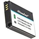 Minadax® Ladegeraet 100% kompatibel fuer Samsung SLB-10A inkl. Auto Ladekabel, Ladeschale austauschbar + 1x Akku wie SLB-10A