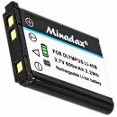 Minadax® Ladegeraet 100% kompatibel fuer Olympus...