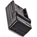 Minadax® Ladegerät 100% kompatibel mit Sony NP-FH50 inkl. Auto Ladekabel, Ladeschale austauschbar + 2x Akku Ersatz für NP-FH50