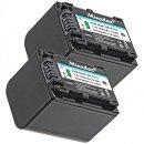 Minadax® Ladegerät 100% kompatibel mit Sony NP-FV70 inkl. Auto Ladekabel, Ladeschale austauschbar + 2x Akku Ersatz für NP-FV70