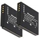 Minadax® Ladegeraet 100% kompatibel fuer Panasonic DMW-BCF10E inkl. Auto Ladekabel, Ladeschale austauschbar + 2x Akku wie DMW-BCF10E