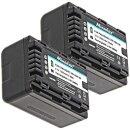 Minadax® Ladegeraet 100% kompatibel fuer Panasonic VW-VBK180 inkl. Auto Ladekabel, Ladeschale austauschbar + 2x Akku wie VW-VBK180