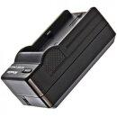 Minadax® Ladegeraet 100% kompatibel fuer Panasonic CGA-DU14 inkl. Auto Ladekabel, Ladeschale austauschbar + 2x Akku wie CGA-DU14