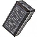 Minadax® Ladegeraet 100% kompatibel fuer Minolta SLB-10A inkl. Auto Ladekabel, Ladeschale austauschbar + 2x Akku wie SLB-10A