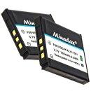 Minadax® Ladegeraet 100% kompatibel fuer Kodak KLIC-7001 inkl. Auto Ladekabel, Ladeschale austauschbar + 2x Akku wie KLIC-7001