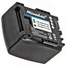 2x Minadax® Qualitätsakku mit echten 750 mAh kompatibel mit Canon LEGRIA HF G10 | HF G25 | HF M31 | HF M32 | HF M36 | HF M40 | HF M41 | HF M46 | HF M300 | HF M306 etc, Ersatz für BP-809