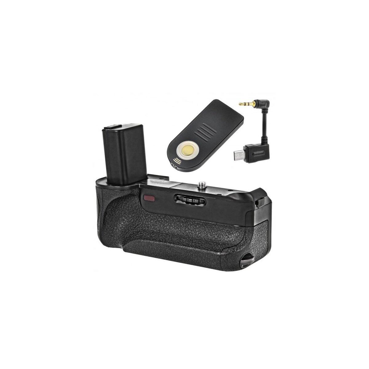 Minadax® Batteriegriff mit Infrarotauslöser - und Schnittstelle kompatibel mit Sony A6000 - 100% kompatibel & passgenaue Form