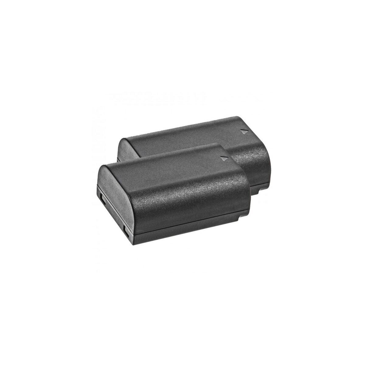 2x Power Akku 1860 mAh Ersatz für ED-BP1900 / BP-1900 Minadax® Qualitätsakku kompatibel mit Samsung NX1 / NX-1 - Intelligentes Akkusystem mit Chip