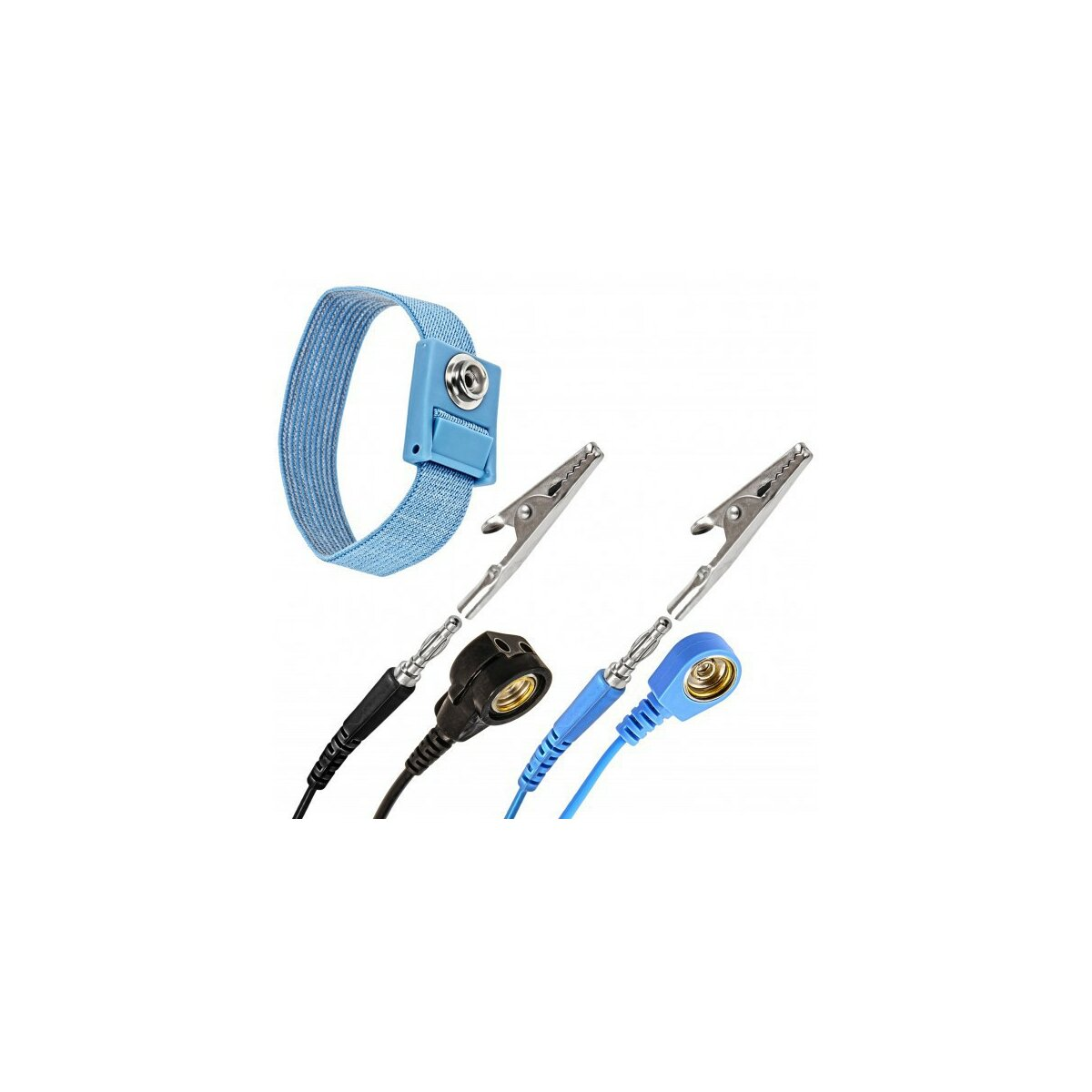 Minadax® ESD Set | Antistatic Mat - Wrist Loop - Earth Cable (Cuff and Extension)
