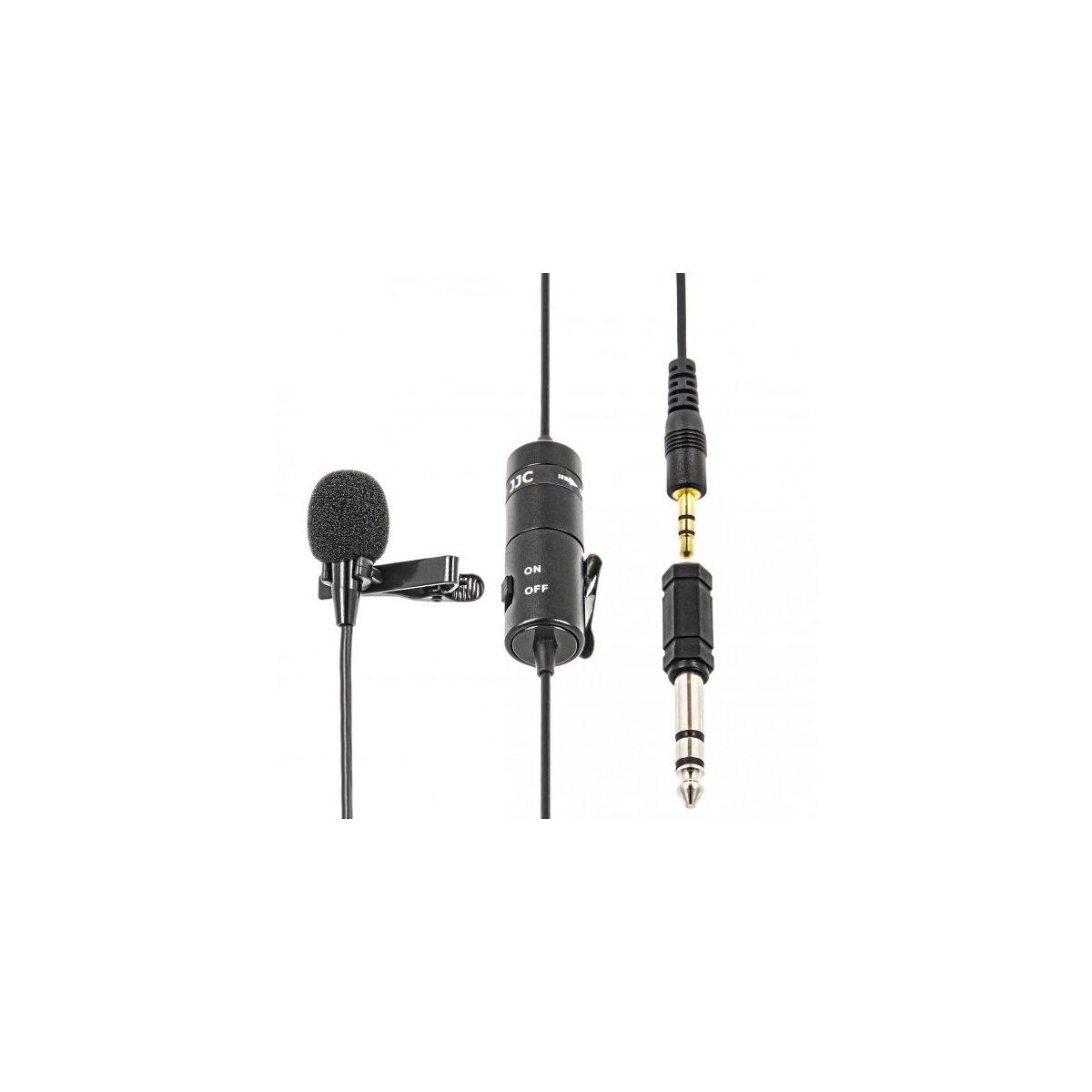 JJC SGM-38 3,5mm Klinke Krawatten- / Ansteckmikrofon fuer Videografie und Vorlesungen