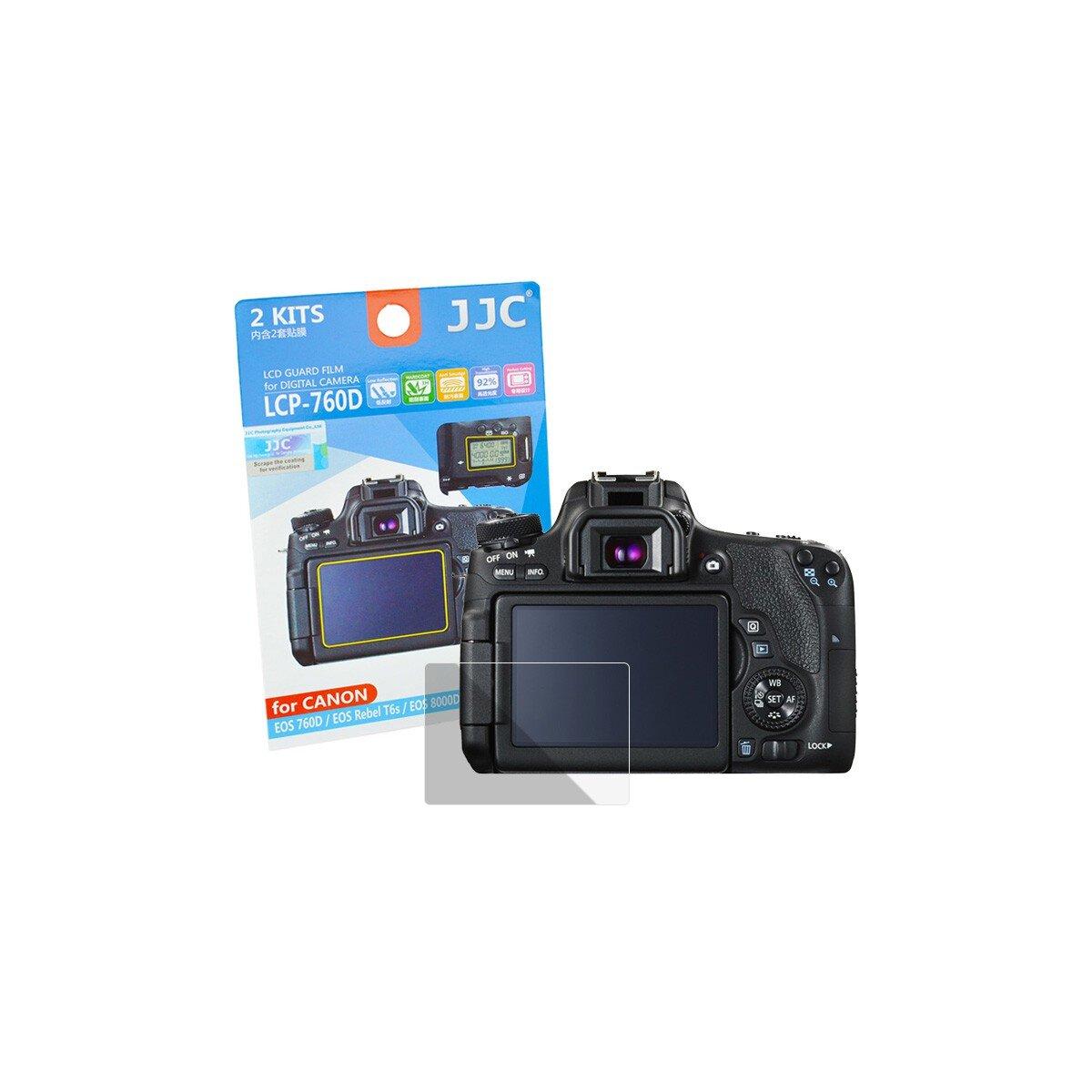 JJC LCD-Displayschutzfolie LCP-760D | Kamera-Display Schutz | Geeignet für Canon EOS 760D/EOS 8000D