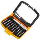 Minadax® 11-Teilig Gehaertet Torx Werkzeug Set aus stabilem Chrom-Vanadium inklusive praktischer Aufbewahrungsbox