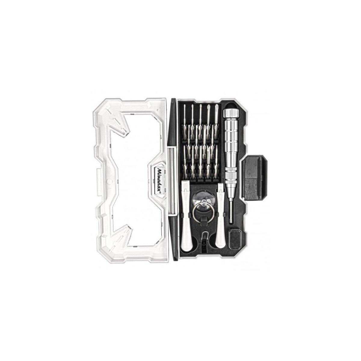 Minadax® Professionelles 18 Teile Gehaertet Smartphone Reparaturset aus Chrom-Vanadium - Opening Tool, Oeffnungs Werkzeug,