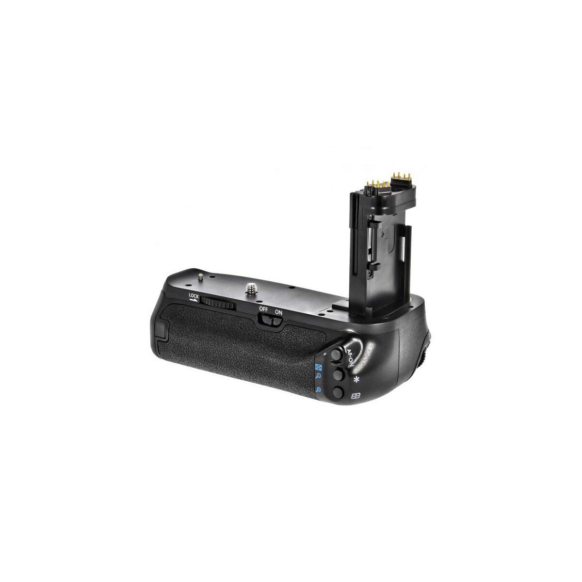Minadax® Batteriegriff kompatibel mit Canon EOS 7D Mark II für 2x LP-E6 Akkus, Ersatz für Canon BG-E16