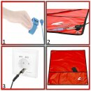 Minadax® 60 x 60cm Profi Reparatur Set mit Antistatik Matte Rot und hochwertig gehärtet S2-Stahl Feinmechaniker Werkzeug