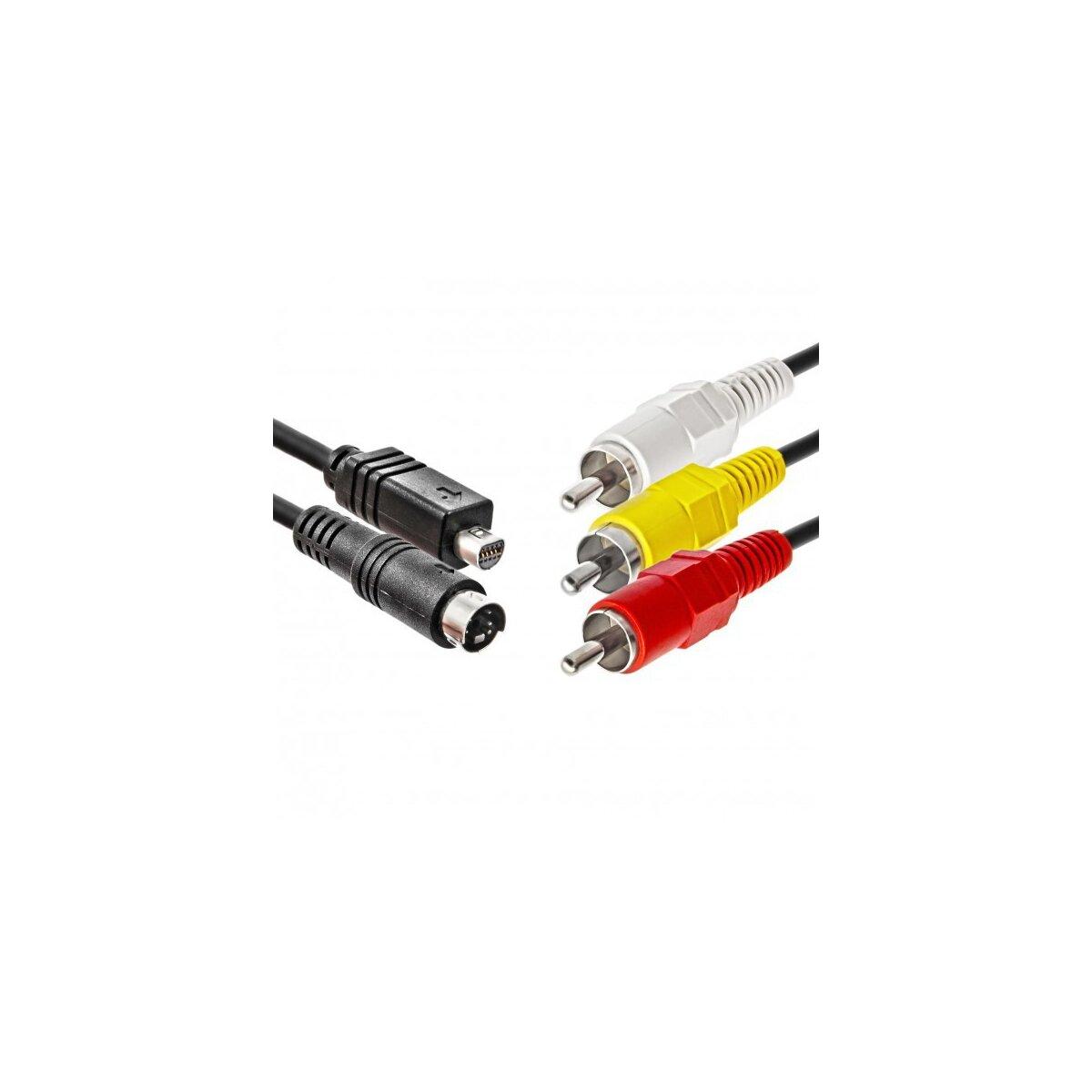 JJC AV Audio-Video-Kabel kompatibel mit SONY DCR-HC-Serie Ersatz für VMC-15FS