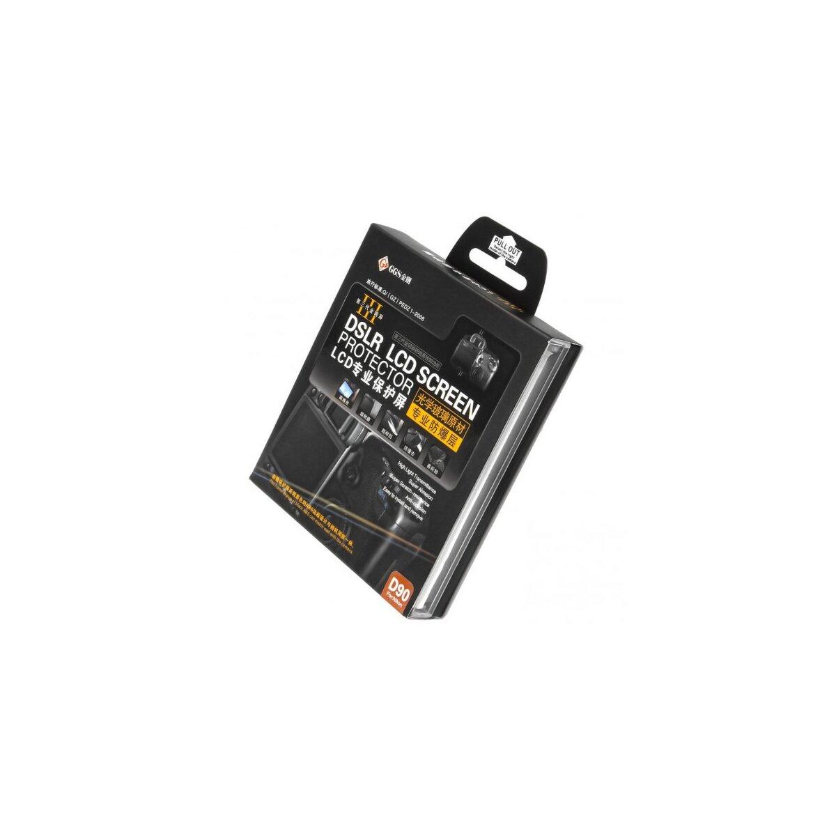 Displayschutz Monitorschutz Protector III kompatibel mit Nikon D90 - Original GGS