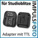 Pixel TF-323 TTL Blitzschuh Adapter kompatibel für Studioblitze und Blitzgeräte mit PC-Sync Buchse für Sony