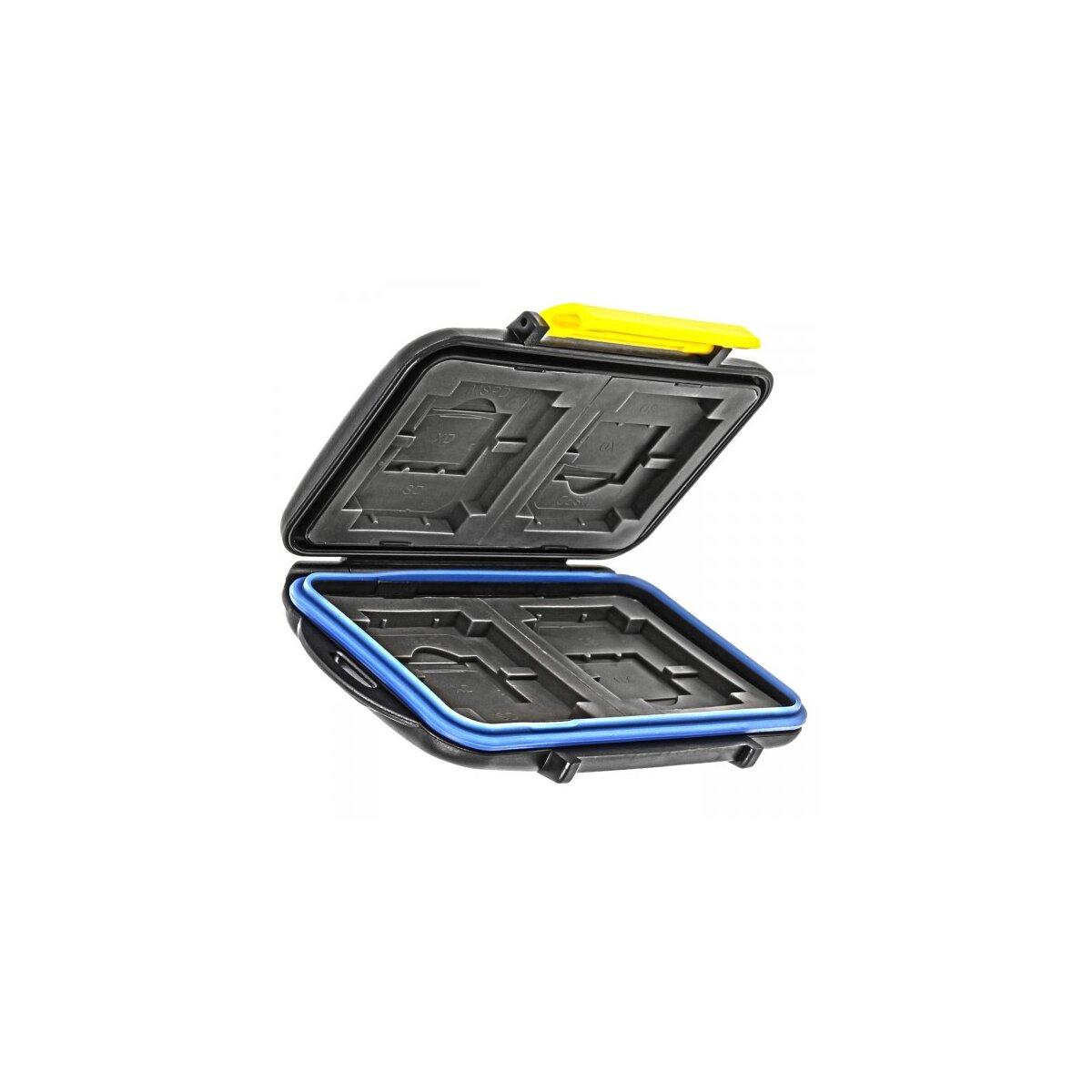 Speicherkarten-Etui Aufbewahrungsbox fuer 4x CF, 4x XD-Card, 4x SD-Card, 4x Memory Stick Pro Duo