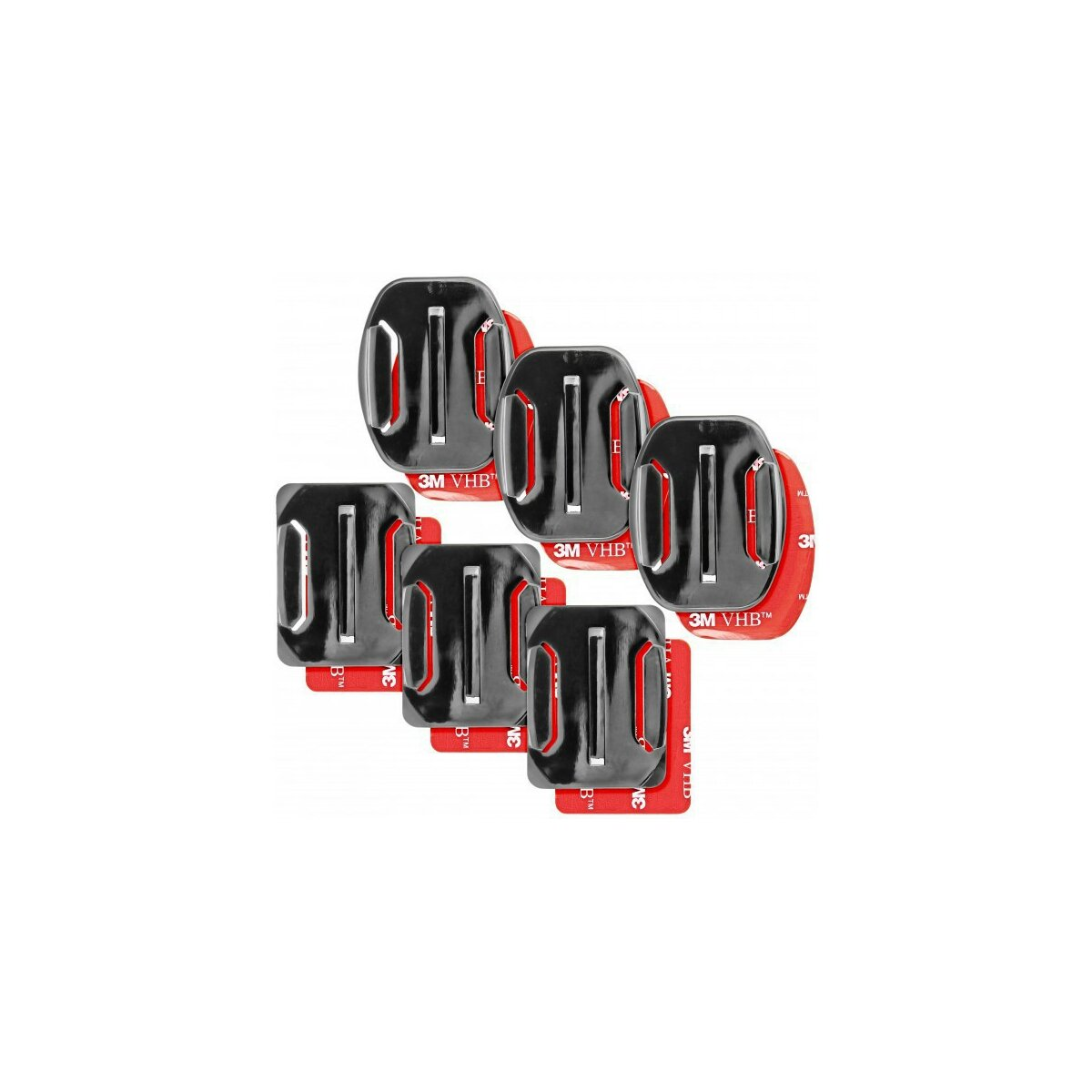 Curved and Straight Glue Holders for GoPro Hero 1, 2 3, 3+ and 4