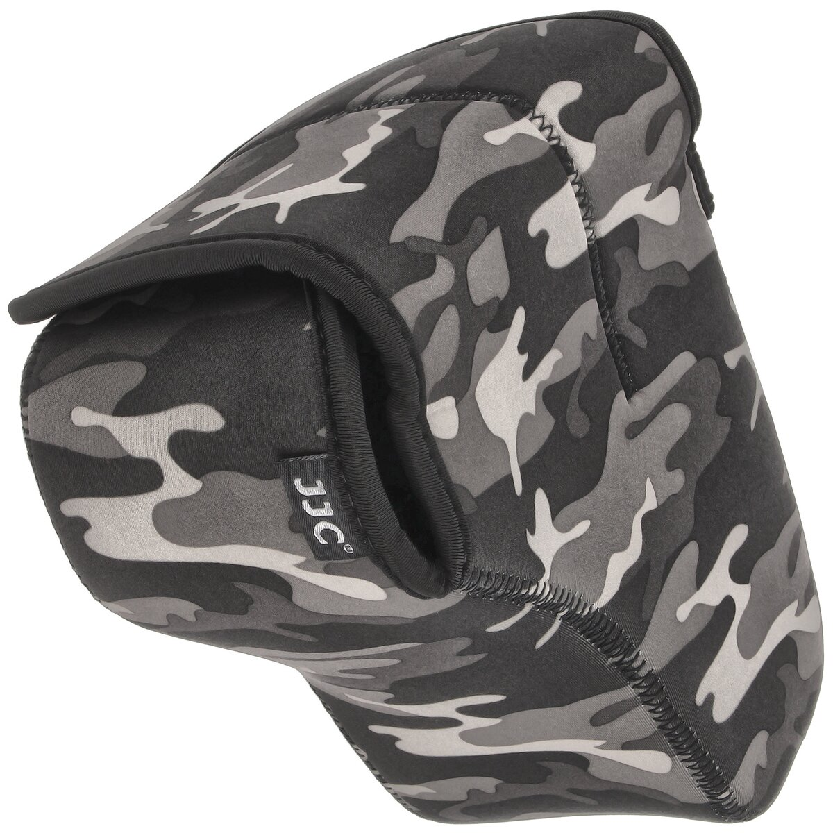 Universal Waterproof Neoprene Camera Case | Protector for Large SLR DSLR Cameras with Lens | Snow Camouflage