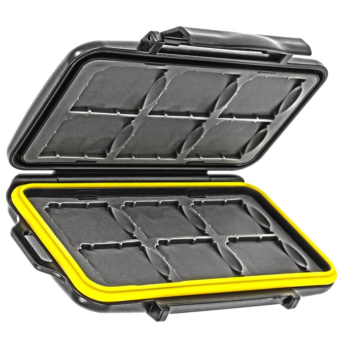 Wasserdichtes Speicherkarten Hardcase Etui Schutzbox fuer 12x SD, SDHC, SDXC