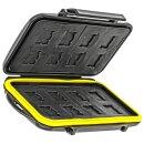 Wasserdichtes Speicherkarten Hardcase Etui Schutzbox fuer 16x Micro-SD