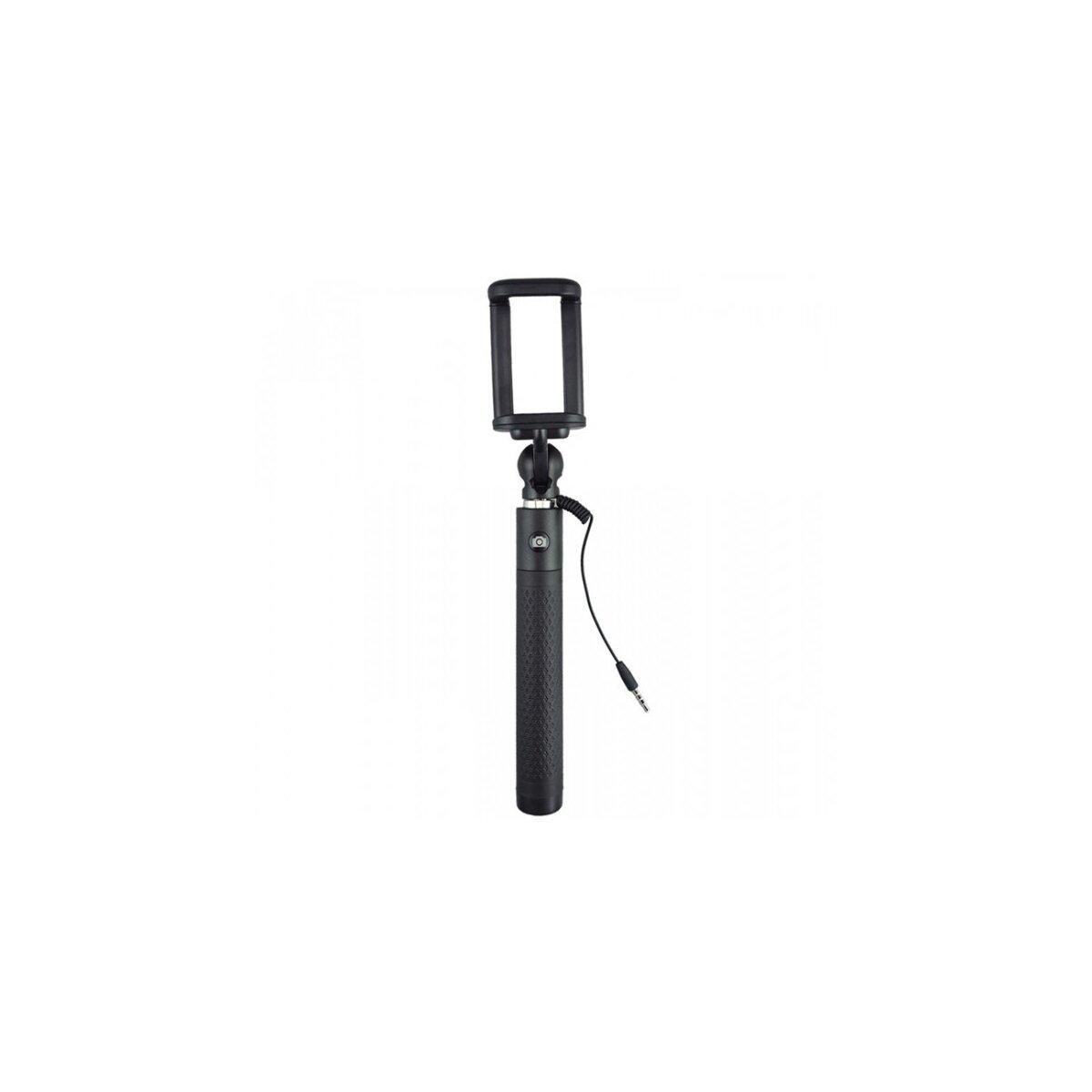 JJC Universeller Selfie-Stick Stange Stab in Schwarz kompatibel für iPhone, Samsung, HTC, Sony - keine App oder Bluetooth notwendig