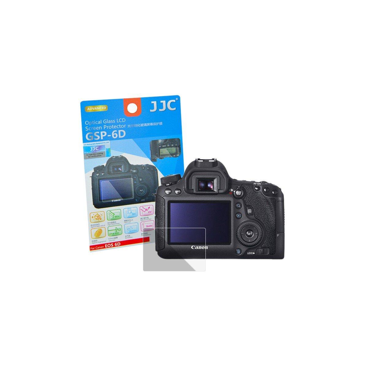 Hochwertiger Displayschutz Screen Protector aus gehaertetem Echtglas, kompatibel mit Canon EOS 6D