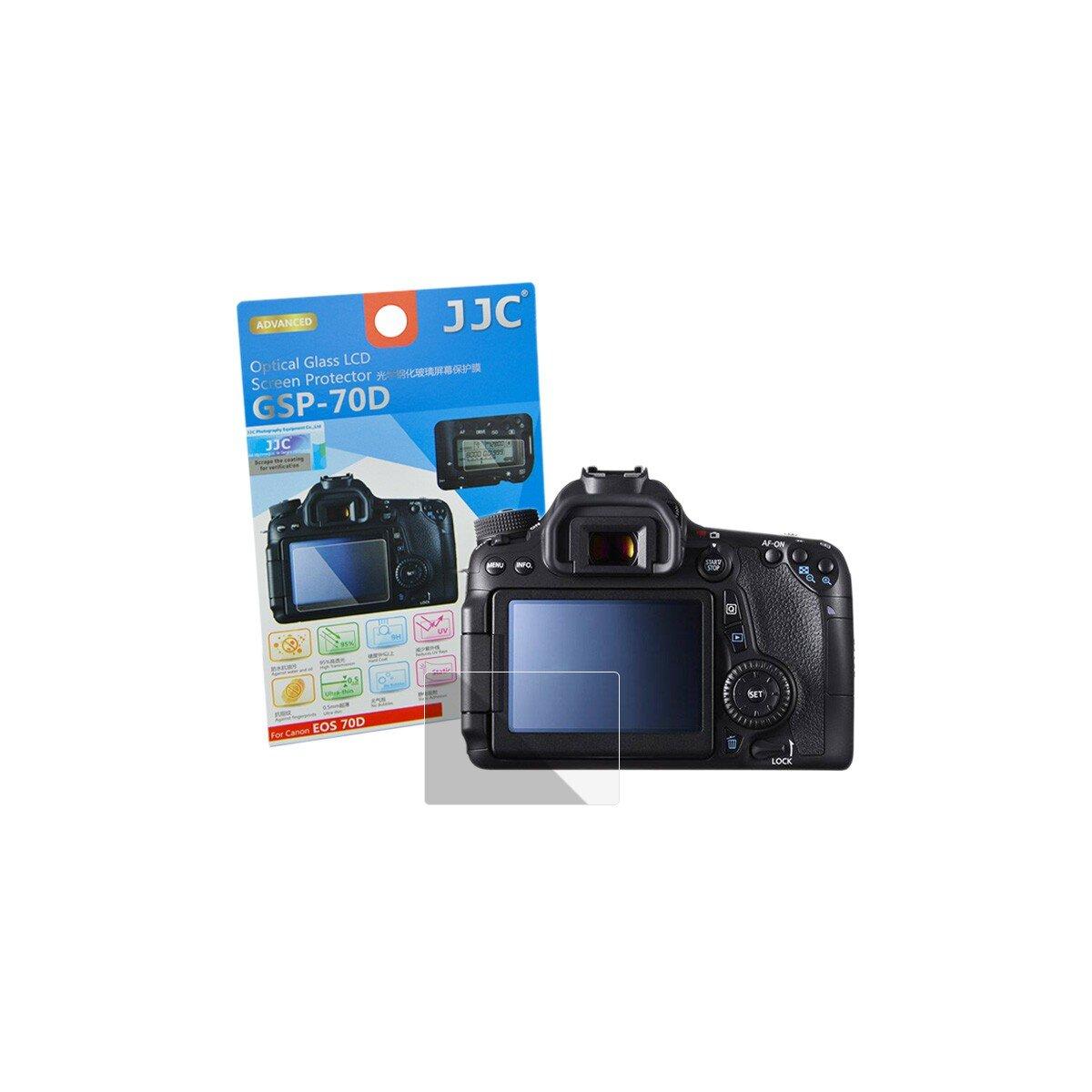 Hochwertiger Displayschutz Screen Protector aus gehaertetem Echtglas, passend fuer Canon EOS 70D
