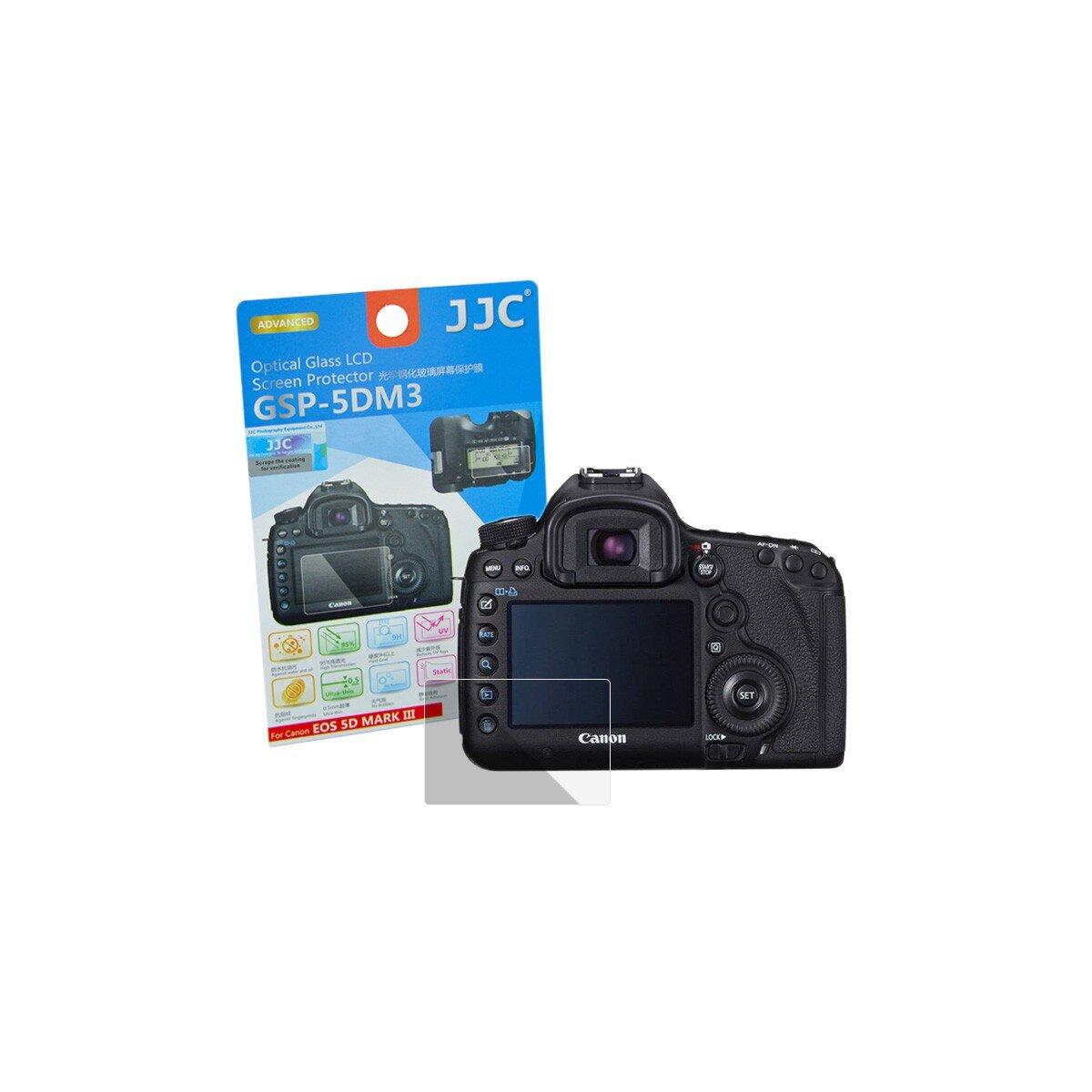 Hochwertiger Displayschutz Screen Protector aus gehaertetem Echtglas, passend fuer Canon EOS 5D Mark III