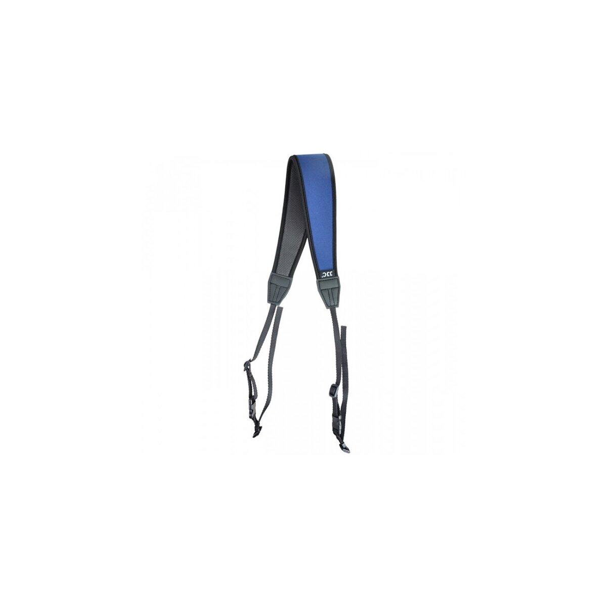 Hochwertiger Neopren-Kameragurt Schulterriemen mit Schnellverschluss-System in Blau