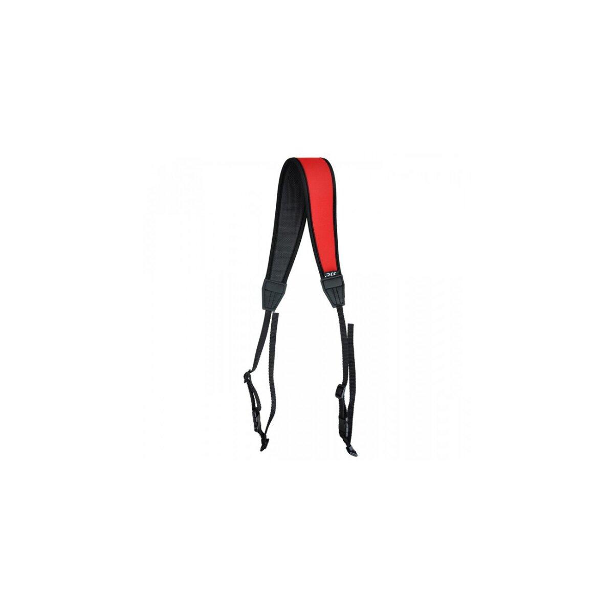 Hochwertiger Neopren-Kameragurt Schulterriemen mit Schnellverschluss-System in Rot