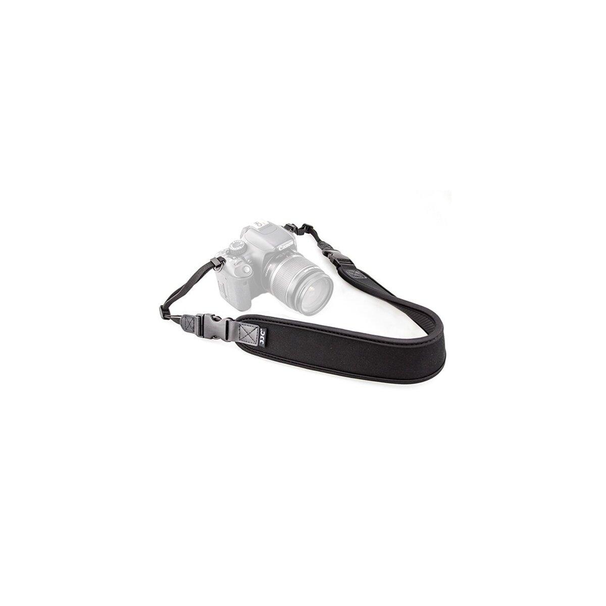 Schmaler Neopren-Kameragurt Schulterriemen mit Schnellverschluss-System in Schwarz