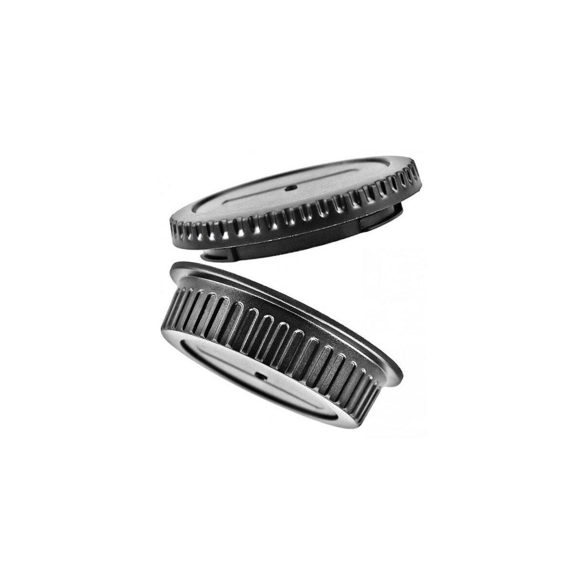 Gehäuse- und Objektiv Rückdeckel kompatibel mit Canon EOS DSLR Spiegelreflexkameras