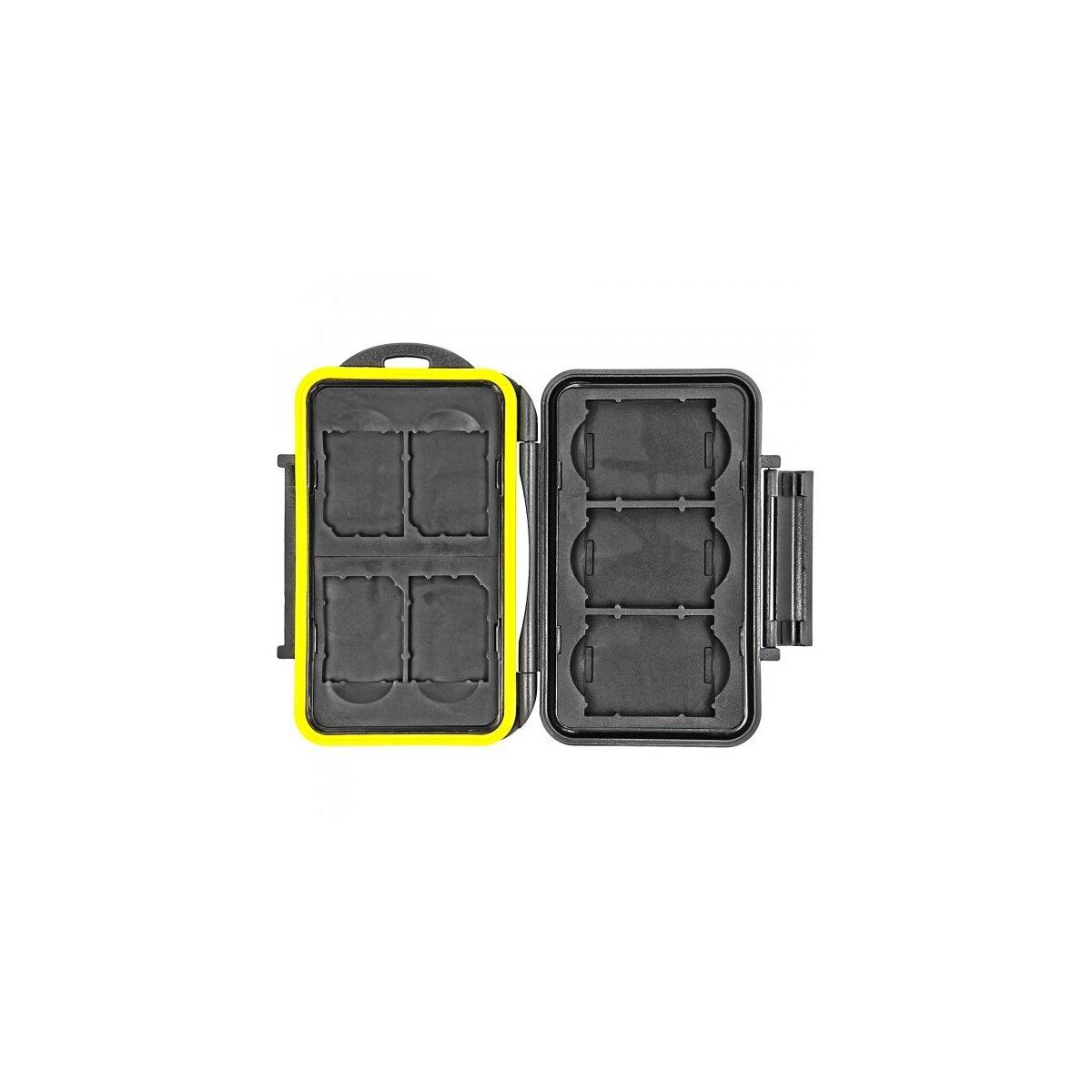 Wasserdichtes Speicherkarten Hardcase Etui Schutzbox fuer 4x SD SDHC SDXC und 3x XQD