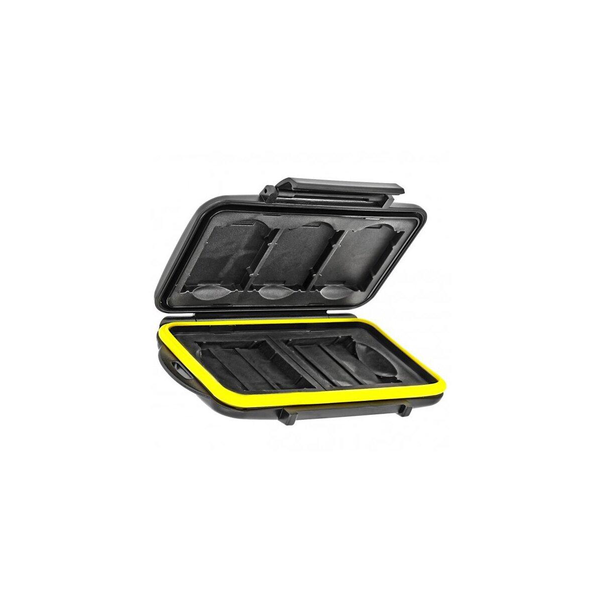 Wasserdichtes Speicherkarten Hardcase Etui Schutzbox fuer 3 x XQD und 2 x CF Compact Flash