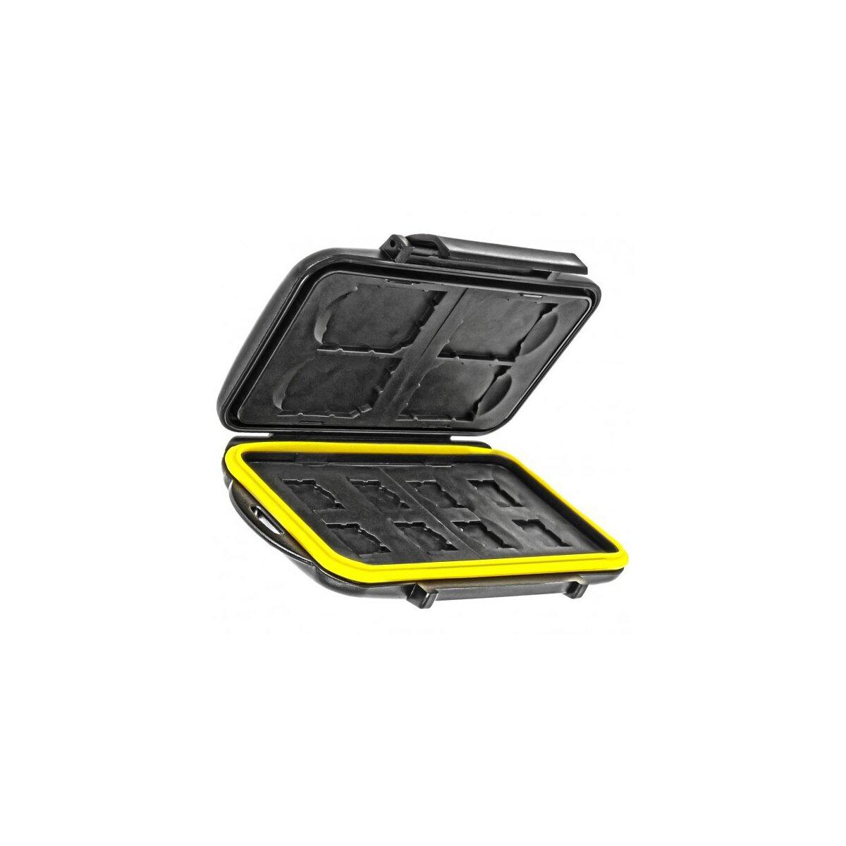 Wasserdichtes Speicherkarten Hardcase Etui Schutzbox fuer 4x SD SDHC, SDXC und 8x MicroSD