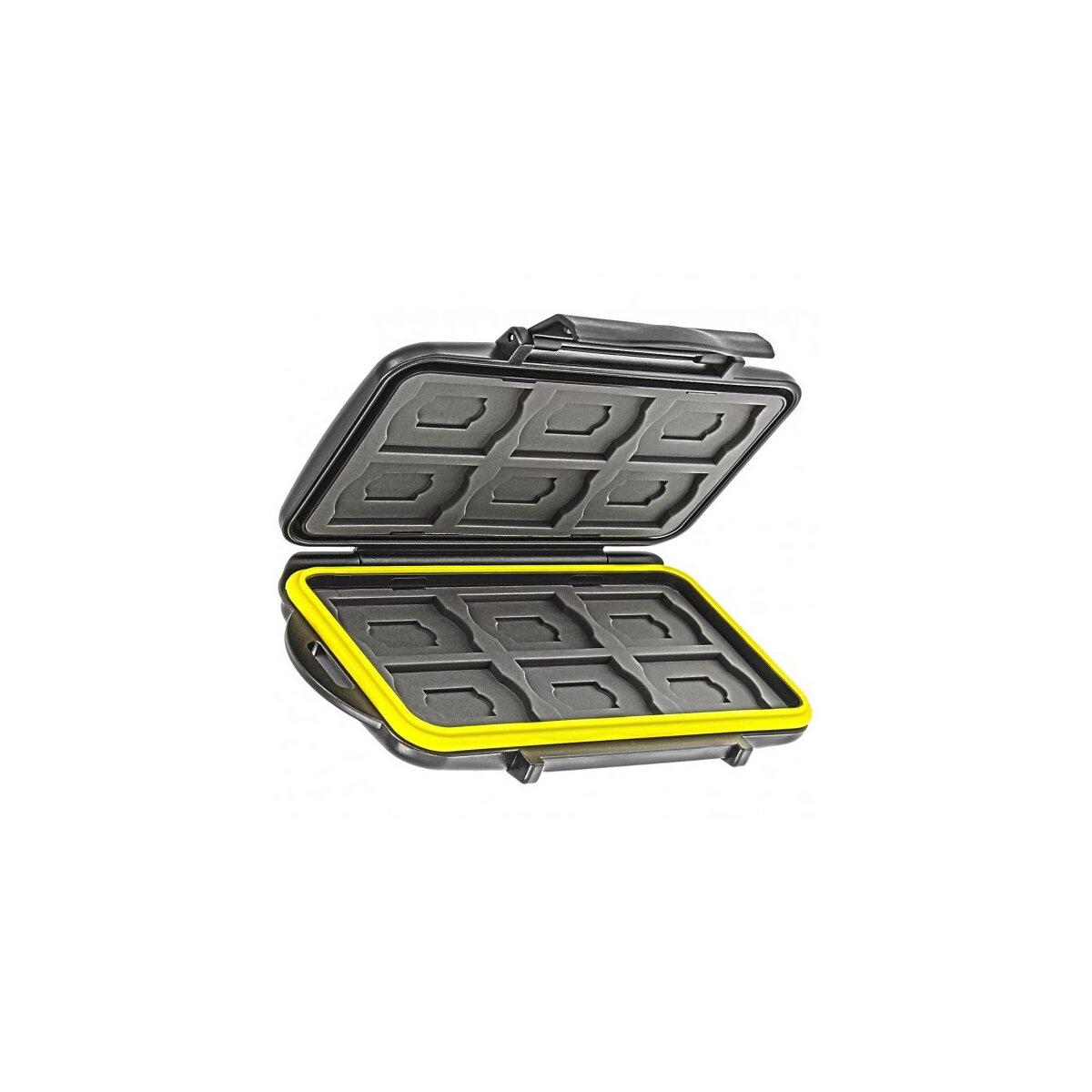 Wasserdichtes Speicherkarten Hardcase Etui Schutzbox fuer 12x SD SDHC, SDXC und 12x MicroSD